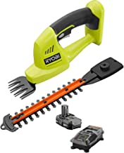 Ryobi ONE+ 18-Volt Lithium-Ion Cordless Grass Shear and Shrubber Trimmer - 1.3 Ah Battery and Charger Included