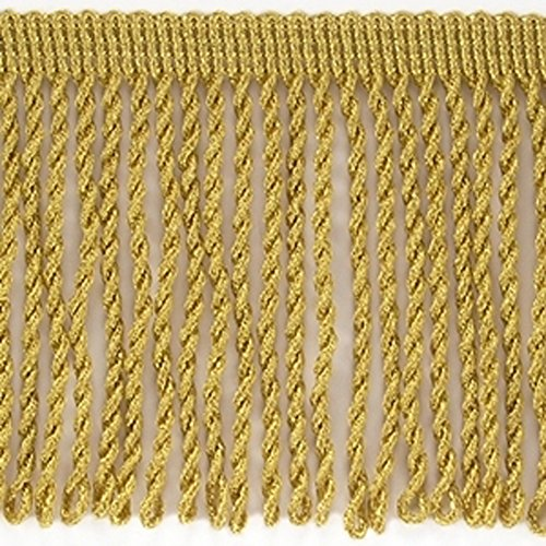 Möbelfranse 8cm - gedreht - Meterware Fransenborte goldfarben