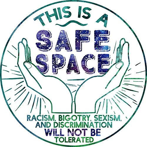 Safe Space Sticker Decal Window Bumper Sticker Vinyl 5""