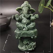 Sculpture Figurine Animal Statue Ornaments Lord Ganesha Statue Buddha Elephant God Sculpture Man-Made Jade Stone Crafts Ho...