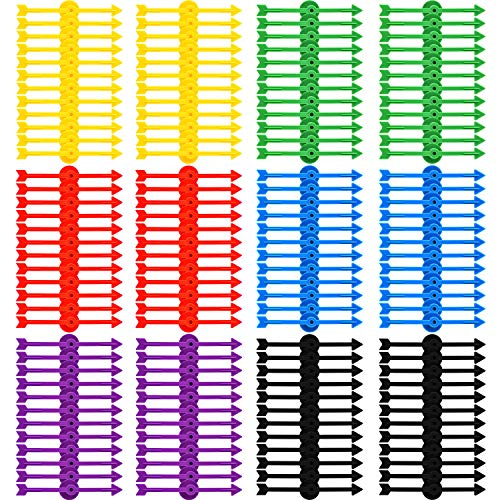 Tatuo 120 Pieces 4 Inch Arrow Spinners Board Game Spinner Plastic Arrow Game Spinners for School Party Supplies, 6 Colors