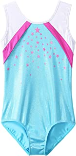 BAOHULU Metallic Gymnastics Leotard Toddler Girls Sparkle Black Rose Long Sleeve Dance Outfit