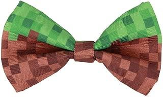elope Pixel Brick Bow Tie, Green & Brown
