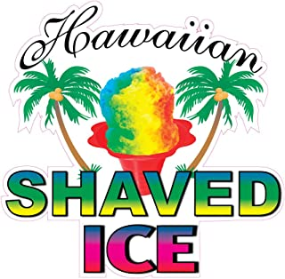 Die-Cut Sticker Multiple Sizes Hawaiian Shaved Ice Style A Retail Hawaiian Shaved Ice Indoor Decal Concession Sign Green 36in Longest Side