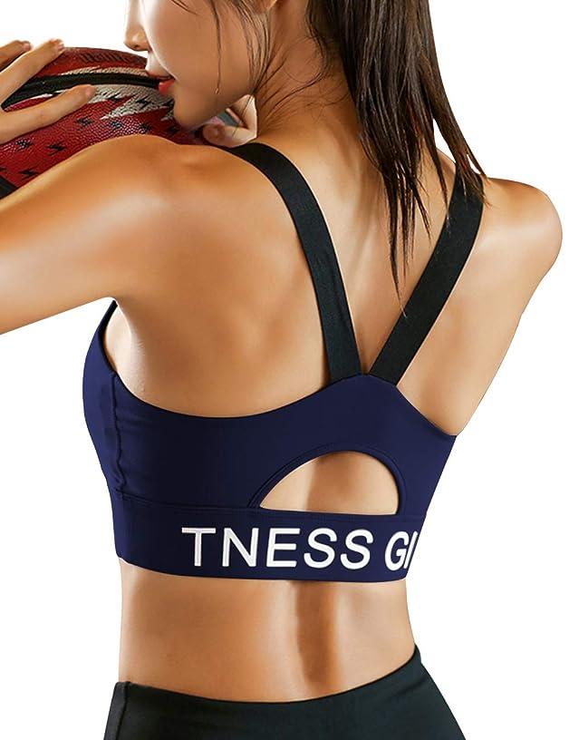 Jolefille Sports Bras Womens Yoga Gym Workout Fitness Girls Racerback Teenager Activewear