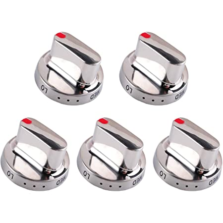 NX58F5300SS DG64-00347B FX510BGS ALVAR Upgraded DG64-00472A Dg64-00473A 5pcs Burner Dial Knob Replacement for Samsung Range Oven Replaces for DG64-00347A NX58F5500S FX710BGS