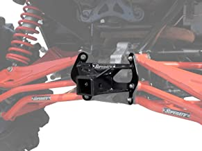 SuperATV Heavy Duty Can-Am Maverick Turbo/XDS/Max/XRS Rear Receiver Hitch - Black - (See Fitment)