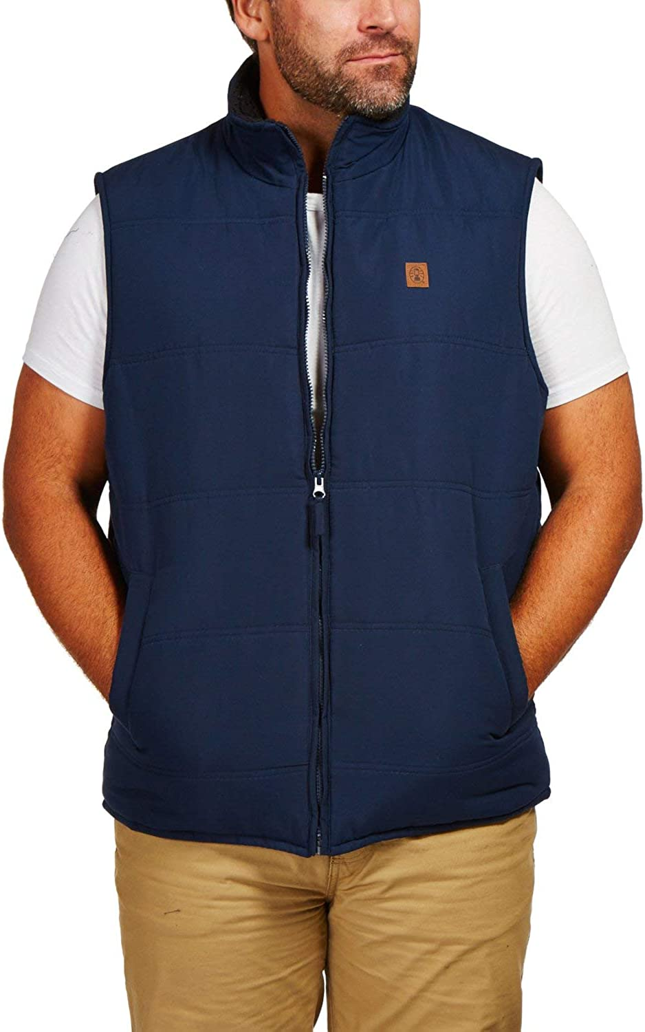 Coleman Microfiber Quilted Puffer Vest With Sherpa Collar