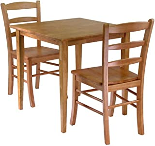Svitlife Groveland 3-Piece Dining Set, Square Table with 2 Chairs Table Chairs Dining and Set Antique Room Metal Chair
