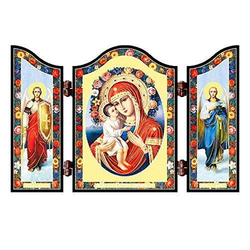 NKlaus 1407 GM Zhirovizkaja christliche Ikone Triptychon Zhirovickaja Reise Altar