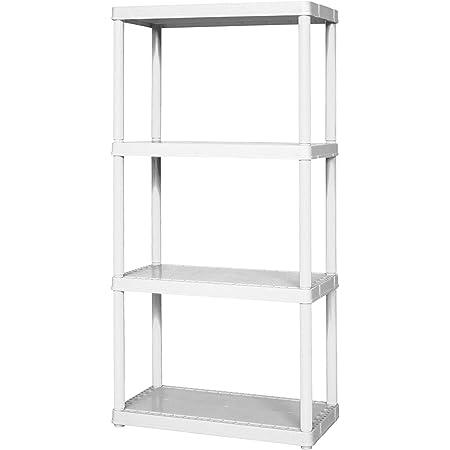 "PLANO MOLDING 917708 Plastic Shelving,Open,48/""H,4 Shelf"