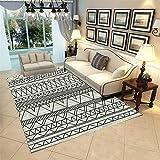 RUGMRZ Outlet Alfombras Geométrico Simple Soft, Hermoso, Limpio, Salón, Alfombra de Perro, Salón Salón, Alfombra Grande alfombras Usable Antideslizante alfombra160X230CM/5ft 3''X7ft 7''