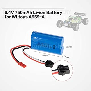 Best 6.4 v li ion rechargeable battery pack 750mah Reviews