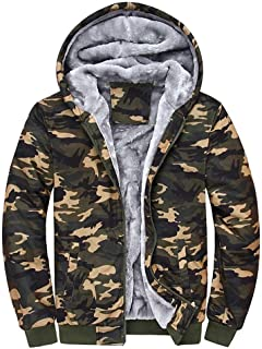 Ohbiger Mens Brushed and Soft Twill Shirt Button Down Jacket with Pocket