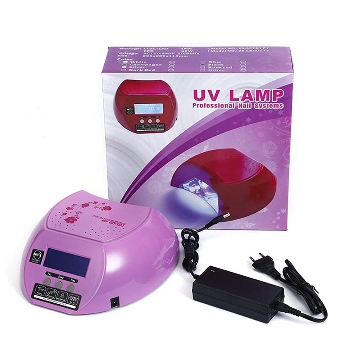 レバージャングルゴミすべてのネイルポリッシュ硬化ゲルランプ用のデュアルソースネイル光線治療ドライヤー