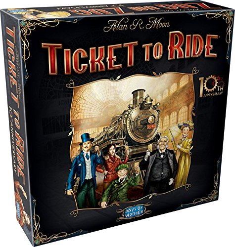 Asmodee - DOWTTR15ML1 - Jeu de  Stratégie - Ticket To Ride - 10th Anniversary Edition