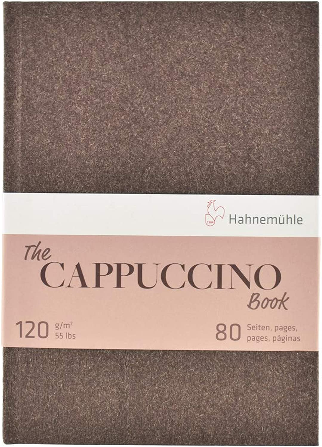 Hahnemuhle, Sketch Book, Cappuccino, A5 (8.3x5.8 inches) 120gsm, 40 sheets 80 pages, Hardbound