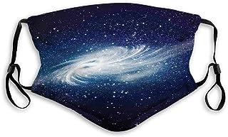 Vindtät aktiverad kolmask, spiral galax bild rymd och stjärnor himmelsk kosmos Expanse universum modern, ansiktsdekoration...