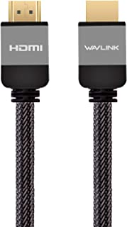 Wavlink High Speed Aluminum Alloy Shell HDMI Cable - 2M (6.6 feet) with Gold-Plated Connector Supports Ethernet 3D 4K Audi...