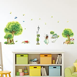 Amazon Brand - Solimo Wall Sticker for Home (Nature's Stroll, Ideal Size on Wall, 135 cm X 65 cm)