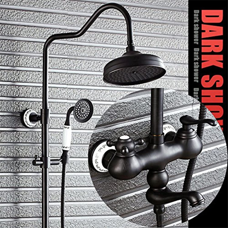 Lalaky Waschtischarmaturen Wasserhahn Waschbecken Spültisch Küchenarmatur Spültischarmatur Spülbecken Mischbatterie Waschtischarmatur Dusche Schwarz Bronze Vollkupfer Retro