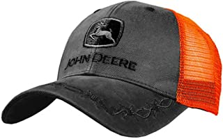 John Deere Oilskin Mesh Back Embroidered Hat, Charcoal