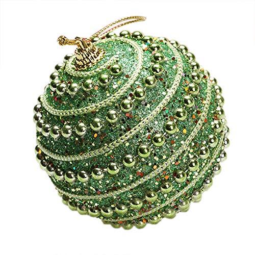 Christmas Pendant Christmas Rhinestone Glitter Baubles Balls Xmas Tree Ornament Decoration 8Cm Home & Garden Home Decor Christmas for Faclot