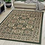 Carpeto Rugs Tapis Salon Orientale Vert 200 x 300 cm Différentes Tailles Poils Courts
