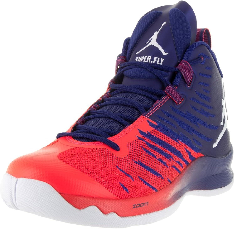 Nike Jordan Men's Jordan Super.Fly 5 Deep Royal bluee Wht Infrrd 23 Basketball shoes 10.5 Men US