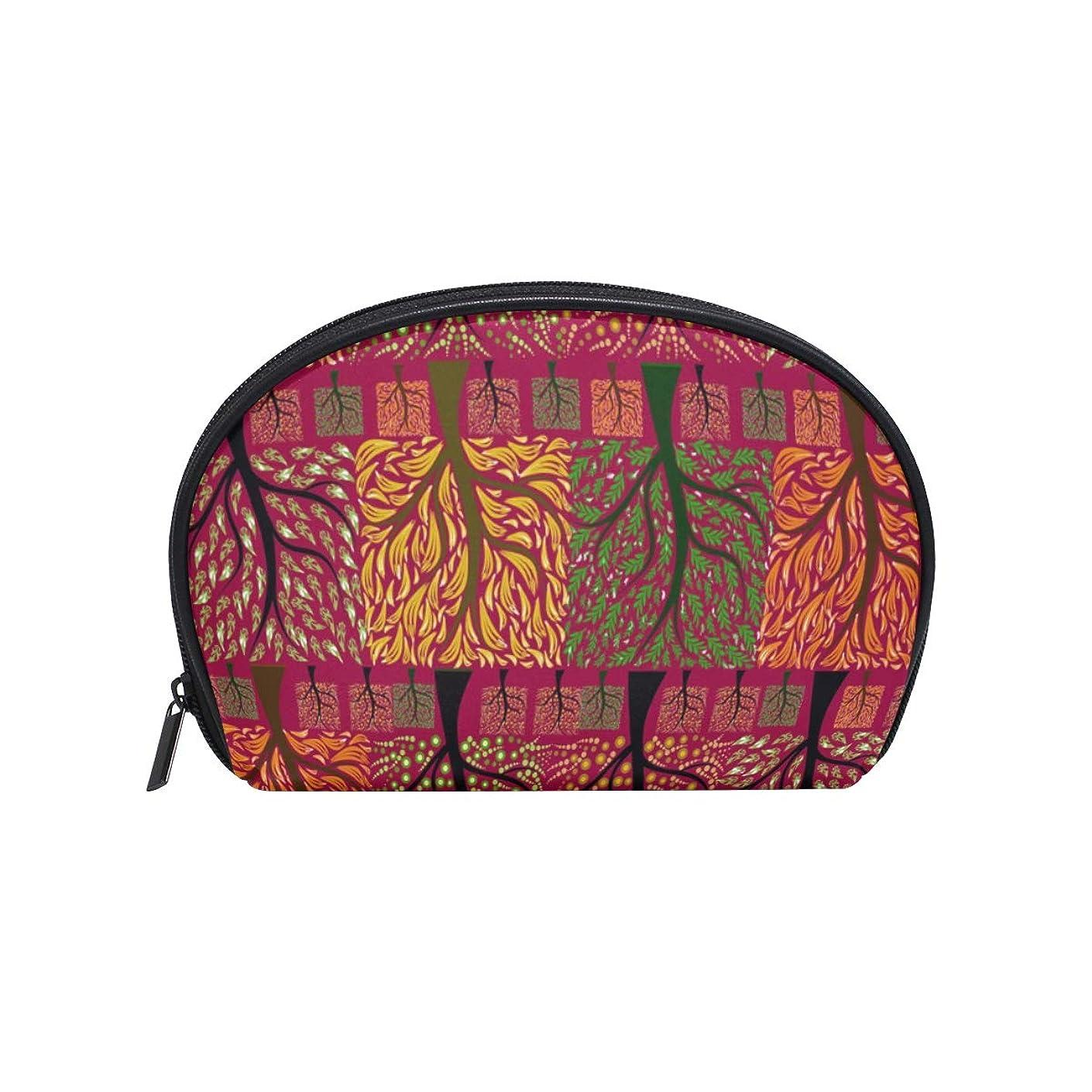 うそつき名声対称Four Seasons Tree 半月 化粧品 メイク トイレタリーバッグ ポーチ 旅行ハンディ財布オーガナイザーバッグ