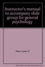 Instructor's manual to accompany slide group for general psychology