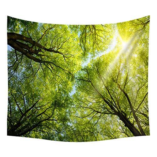 Xmiral Tapestries Picknickdecke Strandtücher 150cm X 200cm Wald Wandtuch Yogamatte(F)