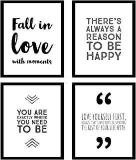 Blankspace Set of 4 Motivational Posters with Inspiring Quote for Girls, Teens & Women | Wall Art for Bedroom, Living Room, Bathroom. (8x10)