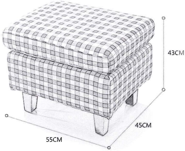 YUMUO Tabouret de Chaussure en Tissu léger Tabouret de lit en Tissu Tabouret de canapé rectangulaire Banquette de Magasin de vêtements Tabouret de canapé F1218 (Couleur: Beige) 5