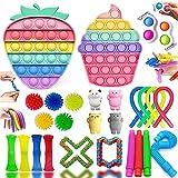 Fidget Toys, Alivia Estrés y la Ansiedad Toy, Fidget Toys Pack Juguetes Antiestres Push Bubble Fidget Juguete Para Niños, Autismo Regalos para niños, Recompensas en el aula de la Escuela
