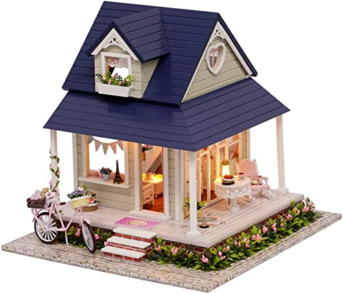 DIY Wooden Miniature Doll House mit M ln, DIY Assembling House Miniature Crafts, Spielzeug für Kinder und Jugendliche, fürrad-Engel, Musik-Bewegung