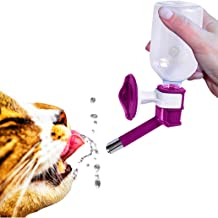 SunGrow Water Bottle, No Drip Pet Dispenser Bottle, with Stainless Steel Sucker, Easy to Install in Cage and Crate, Leak Proof, Rust Proof, BPA Free, for Puppies, Cats, Bunnies and Other Small Animals