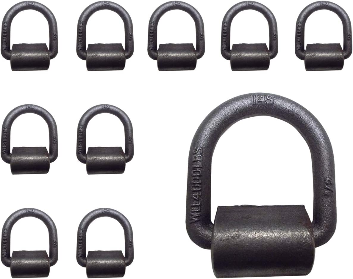 15,000 lbs./… WLL Mega Cargo Control 10-Pack 1 Weld-On D Ring Tie Down Anchor for Flatbed Truck Trailer Tie Down Ring