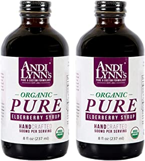 Andi Lynn's Pure Black Elderberry Syrup with Honey - Original Sambucus for Immune Support – Fast Acting 500 mg per Serving...