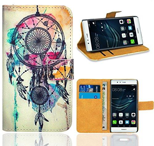 FoneExpert® Huawei P9 Plus Handy Tasche, Wallet Hülle Flip Cover Hüllen Etui Ledertasche Lederhülle Premium Schutzhülle für Huawei P9 Plus