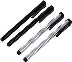 SODIAL(R) 2 x Negro y 2 x Plateado Lapiz Tactil para iPad , Samsung Galaxy Tab ,Motorola Xoom, Todos los Telefonos Moviles con Pantalla Tactil, Tabletas