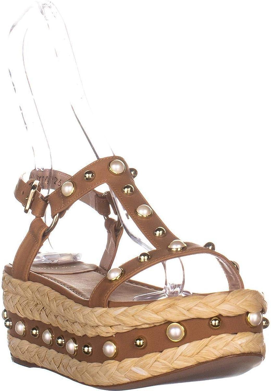 Stuart Weitzman Women's Be Raffia Flatform Sandals