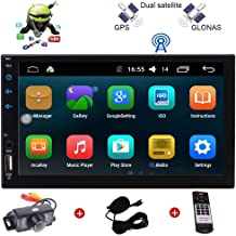 Universal 2 Din Android 6.0 Car Stereo 7 Inch Capacitive Touch Screen In Dash Bluetooth 4.0 Autoradio Head Unit Support USB AUX WIFI 3G 4G FM/AM RDS OBD2 Screen Mirror SWC Colorful Buttons+Rear Camera