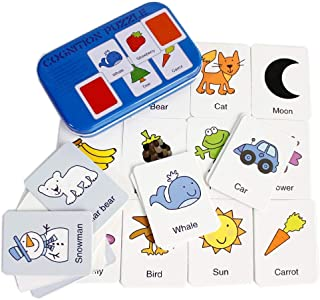 UKR Cognitive Puzzle Colors English Words Flash Cards