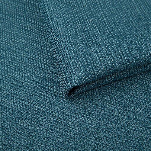 Pure Textilien Webstoff Strukturstoff Portland - Möbelstoff Polsterstoff Uni Meterware - türkis 85