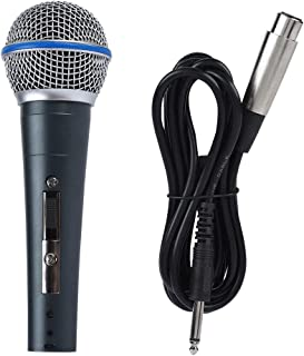 Single Channel Hand Microphone, 6.5mm 140dB Universal Plug and Play Wired Microphone, for Home Audio System KTV