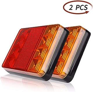 ETUKER 2stk LED Anhänger Rückleuchten Bremsleuchte, 12V Anhänger Rücklicht Kontrollleucht Warnlichter Wasserdichte Rückleuchten, LED Anhänger Rücklicht Für Wohnwagen/RV/LKW(8 LED Chips 1 Paar)