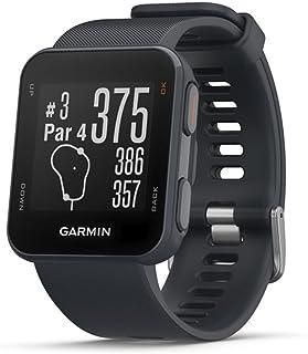 Garmin Approach S10 - Reloj de golf (campos mundiales preinstalados, resistencia al agua 5 ATM) color azul