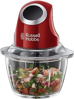 Russell Hobbs 24660-56 Desire - Picadora de Alimentos (Picadora Eléctrica, 200 W, Cuchillas Inox, Rojo, sin BPA)