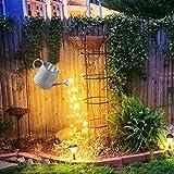 Dekoration für den Garten, Sterndusche – Gießkanne LED Lichterkette Solar-Lichterkette, Skulpturen und Gartenstatuen für Gartendekoration im Außenbereich